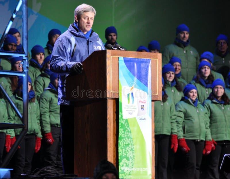 Primer ministro canadiense Harper imagen de archivo libre de regalías