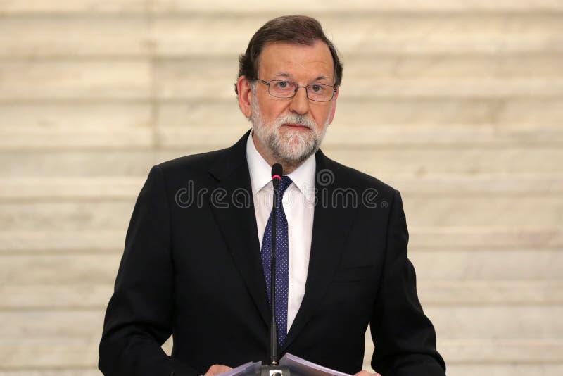 Primer ministro de España Mariano Rajoy fotos de archivo libres de regalías