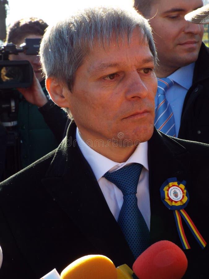 Primer ministro de Rumania, Dacian Ciolos fotos de archivo libres de regalías