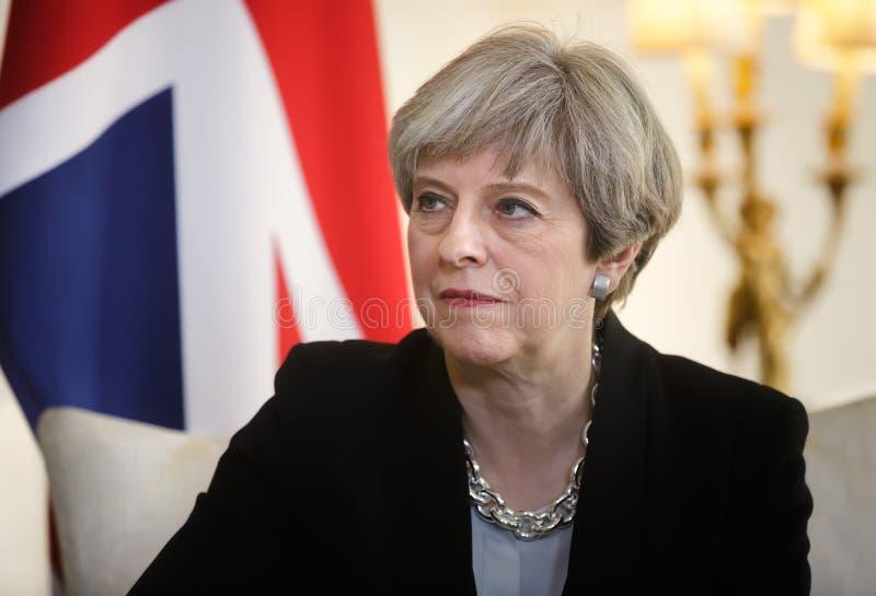 Primer ministro del Reino Unido Theresa May fotos de archivo