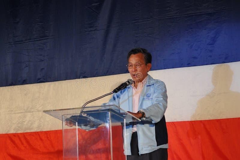 Primer ministro tailandés anterior Chuan Leekpai foto de archivo libre de regalías