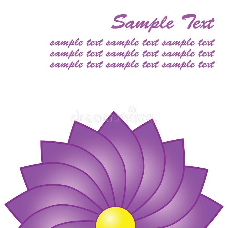 Primer púrpura de la flor con el espacio para el texto stock de ilustración