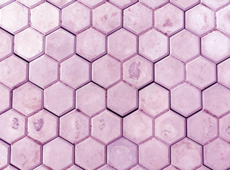 Primer pedastrian púrpura de la calzada fotografía de archivo
