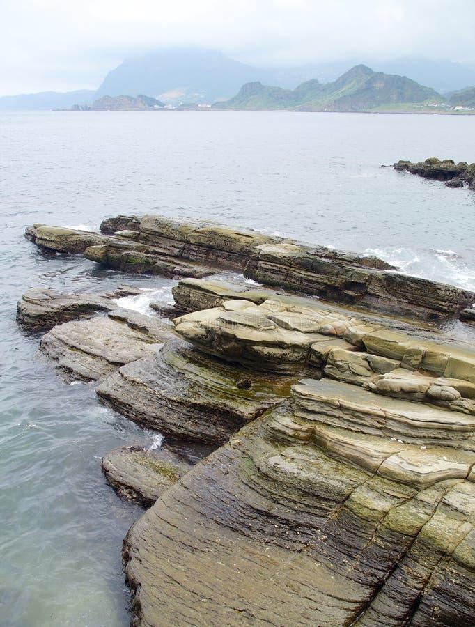 Primer resistido de la roca en Keelung foto de archivo libre de regalías