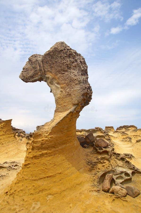 Primer resistido de la roca en Yeliu imagen de archivo libre de regalías
