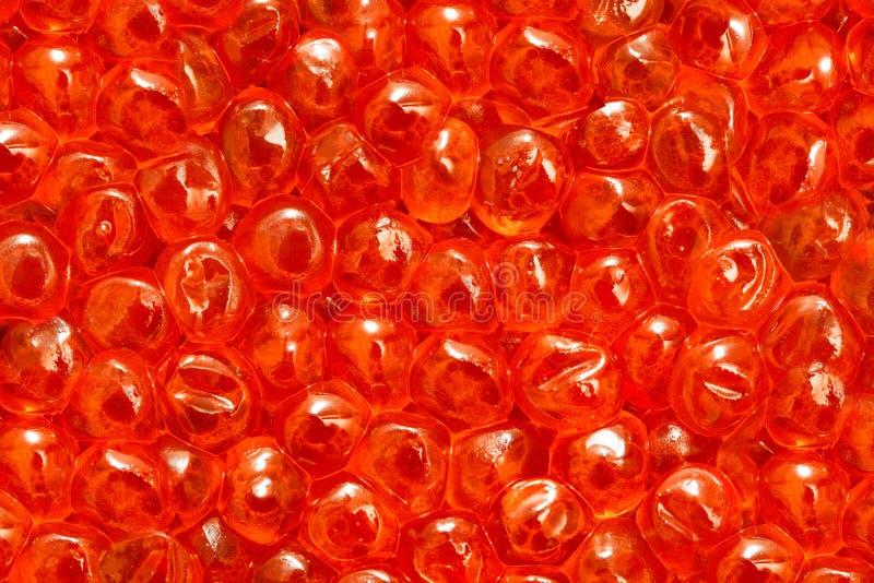 Primer rojo del caviar fotos de archivo