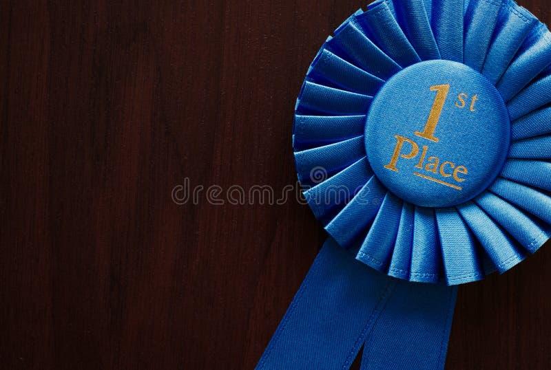 Primer rosetón de los ganadores del lugar imágenes de archivo libres de regalías