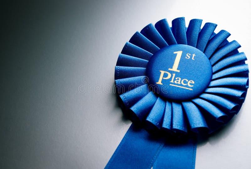 Primer rosetón del ganador del lugar del azul fotos de archivo libres de regalías