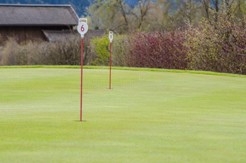 Primer verde del golf imagenes de archivo