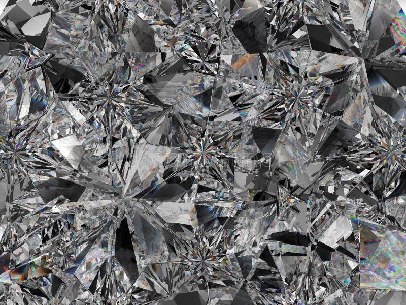 Primer y caleidoscopio extremos de la estructura del diamante libre illustration