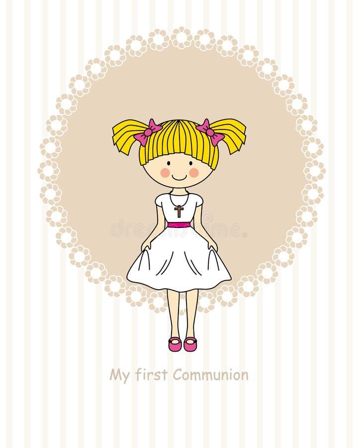Primera comunión de la muchacha libre illustration