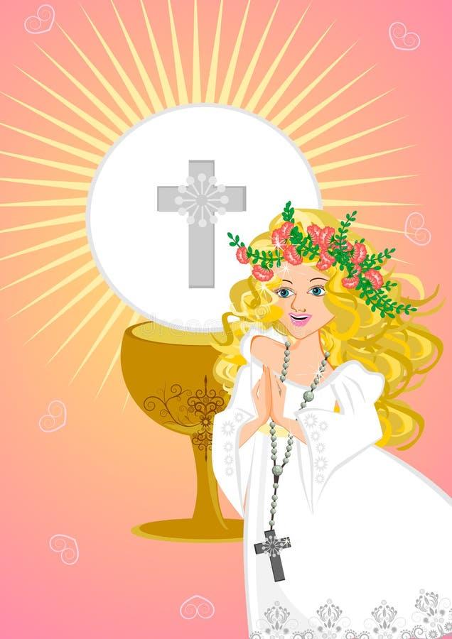 Primera comunión santa stock de ilustración