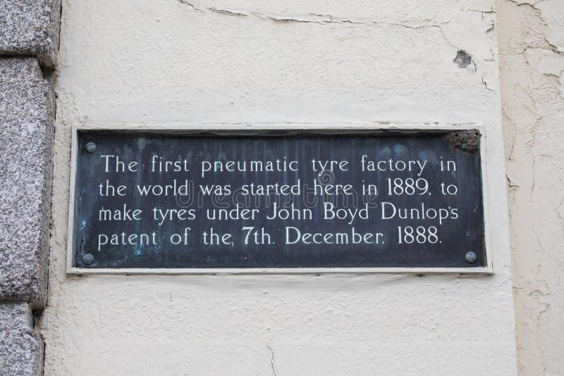 Primera fábrica del neumático neumático en el mundo imagen de archivo libre de regalías