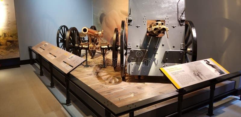 Primera Guerra Mundial Marine Corps Cannon y ametralladora fotos de archivo