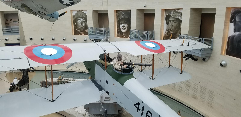 Primera Guerra Mundial Marine Corps Curtiss Jenny Biplane imagen de archivo