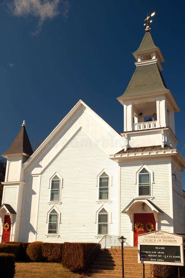 Primera iglesia congregacional, Hebrón fotos de archivo libres de regalías