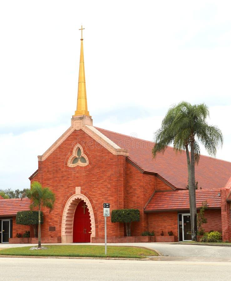 Primera iglesia metodista unida en Melbourne, FL foto de archivo libre de regalías