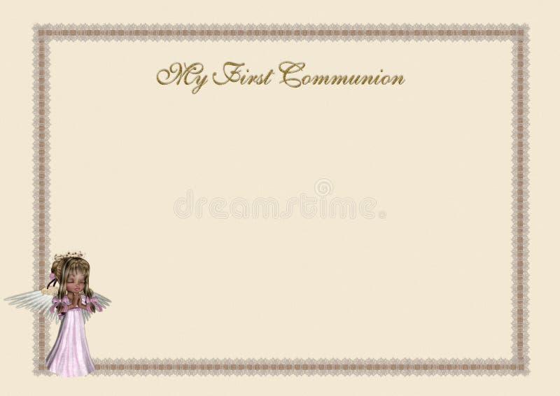 Primera invitación de la comunión stock de ilustración