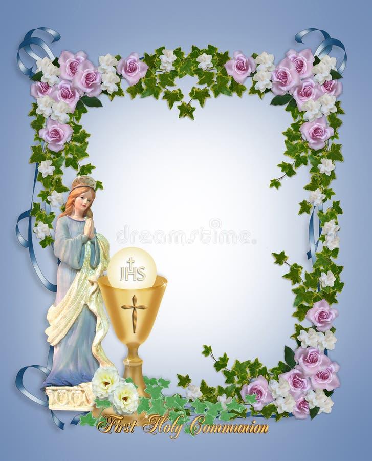 Primera invitación de la comunión santa stock de ilustración