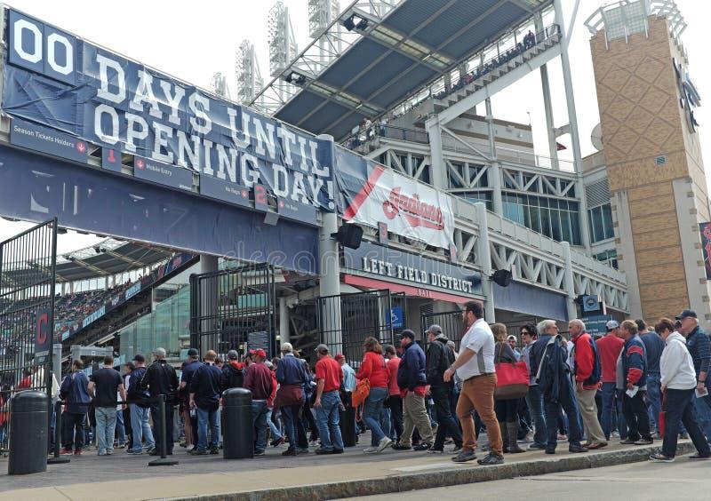 Primera jornada 2017 del béisbol de Cleveland Indians foto de archivo libre de regalías