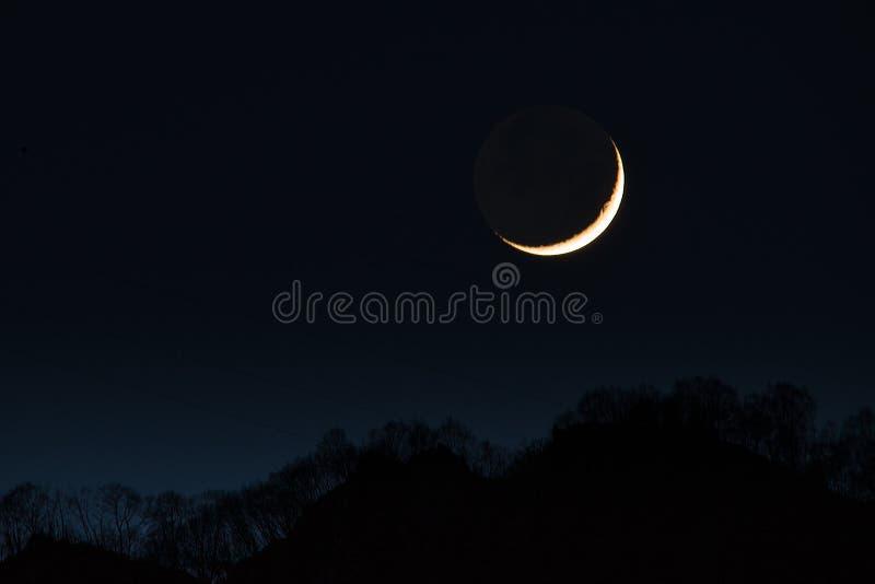primera luna creciente fotografía de archivo