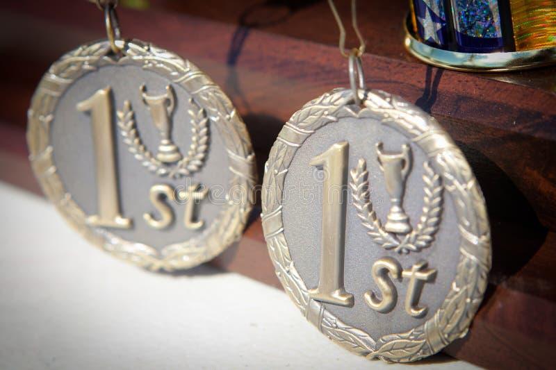 Primera medalla del lugar fotos de archivo