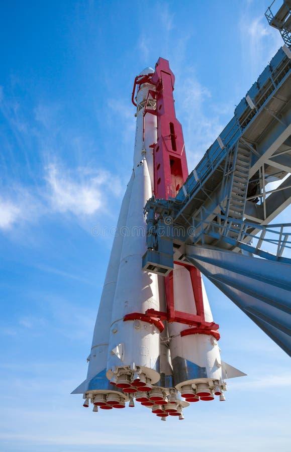 Primera nave espacial rusa Vostok foto de archivo