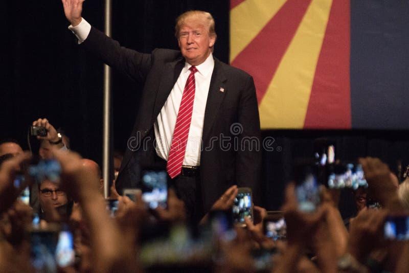 Primera reunión de la campaña presidencial de Donald Trump en Phoenix fotos de archivo libres de regalías