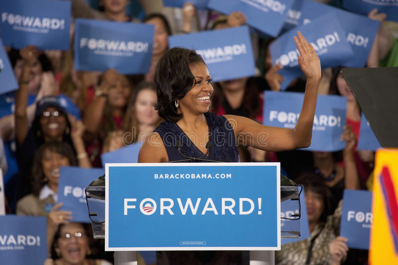 Primera señora Michelle Obama imagenes de archivo
