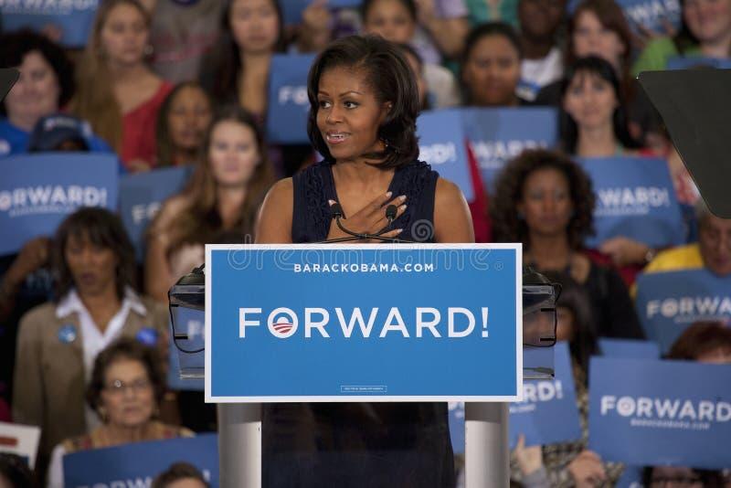 Primera señora Michelle Obama foto de archivo libre de regalías