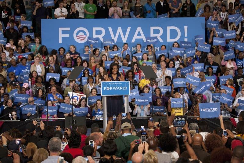 Primera señora Michelle Obama foto de archivo