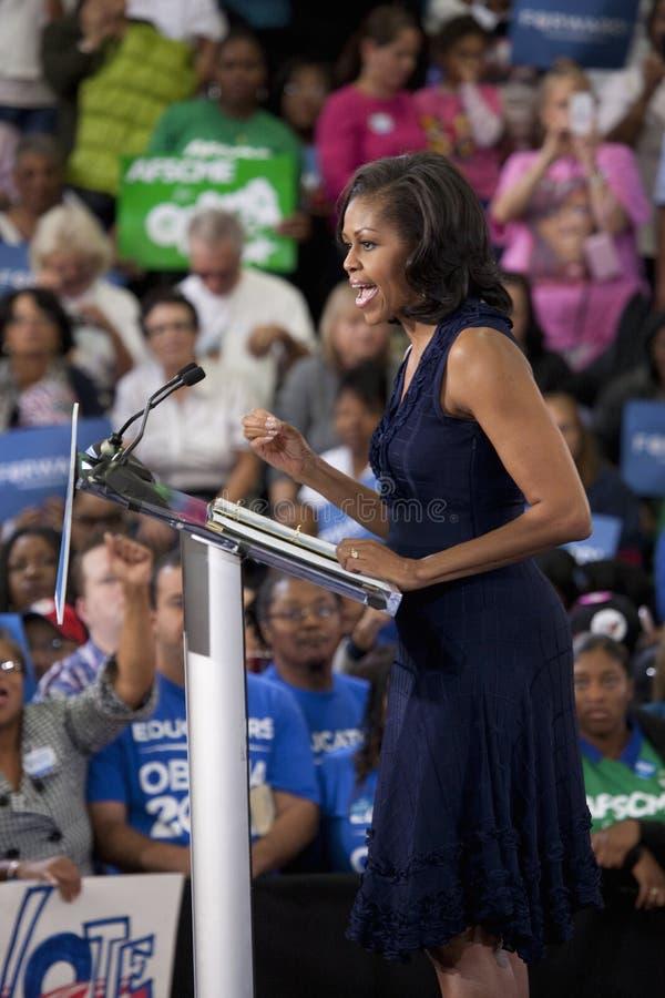Primera señora Michelle Obama imagen de archivo libre de regalías