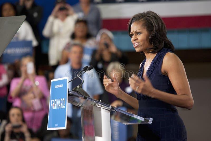 Primera señora Michelle Obama imágenes de archivo libres de regalías