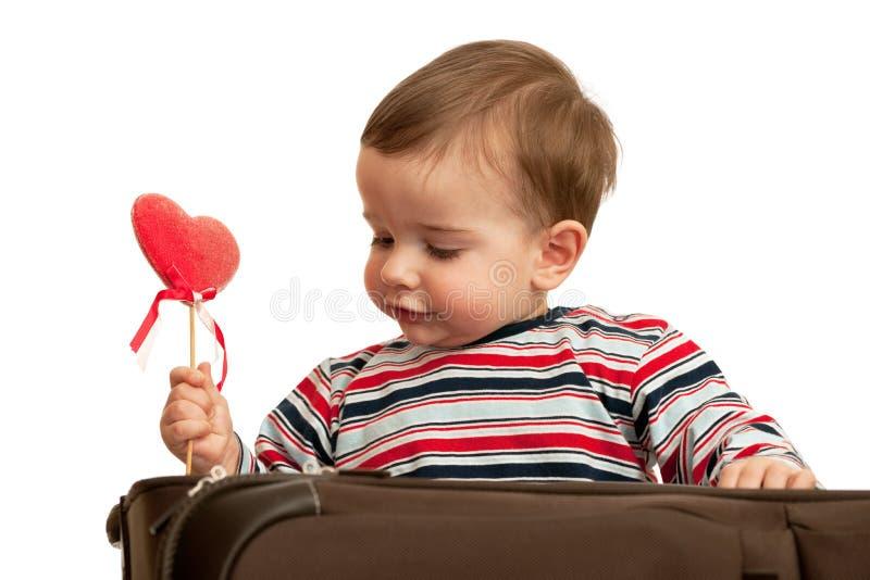 Primera tarjeta del día de San Valentín imagen de archivo libre de regalías