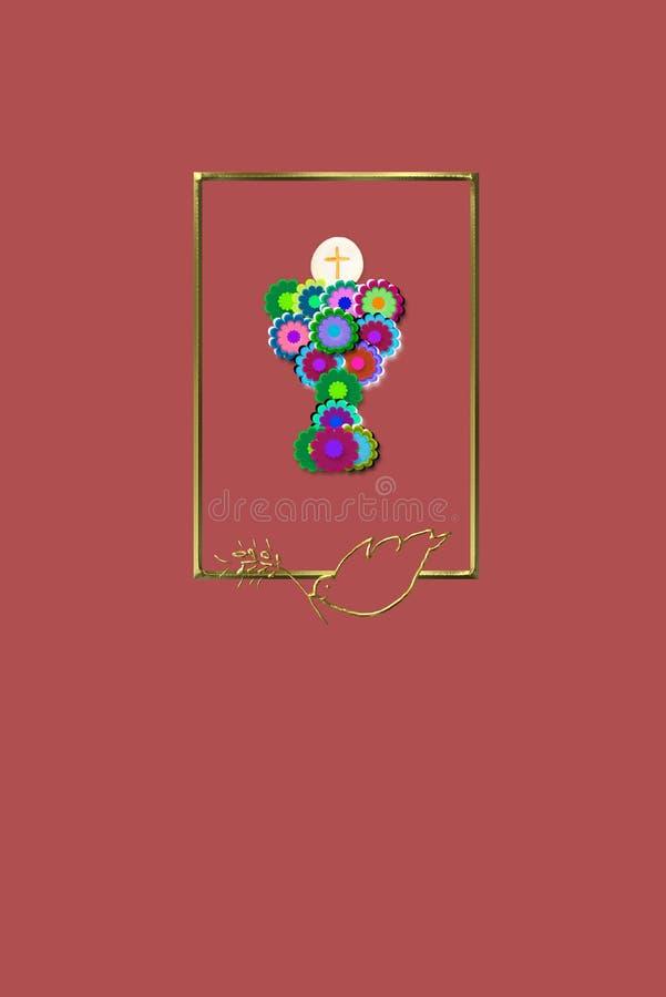 Primeras tarjetas de la comunión santa libre illustration