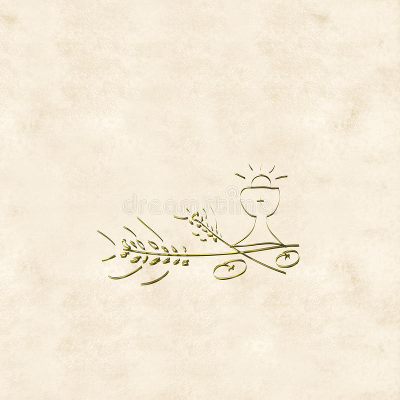 Primeras tarjetas de las invitaciones de la comunión santa libre illustration