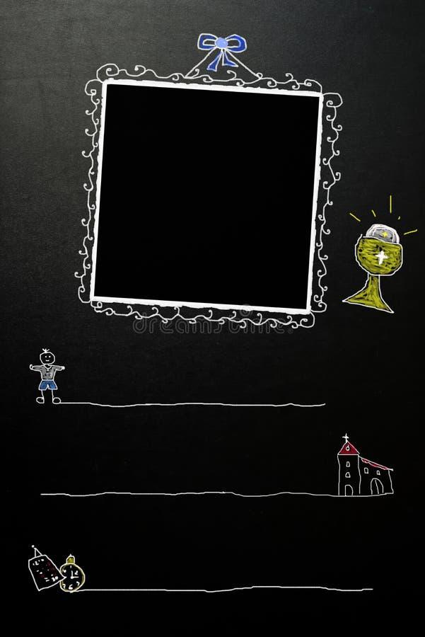 Primeras tarjetas del muchacho de la comunión santa libre illustration