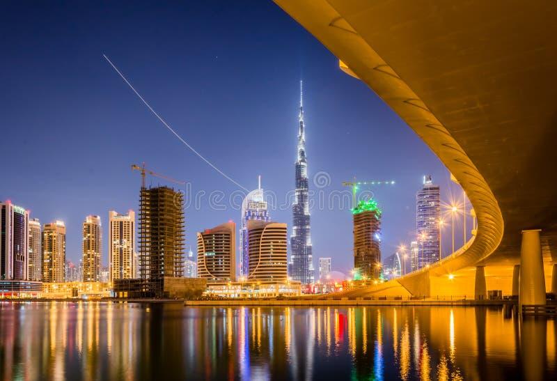 Primeras visiónes desde la tapa del Burj Khalifa fotografía de archivo