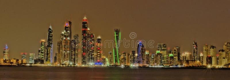 Primeras visiónes desde la tapa del Burj Khalifa imagen de archivo