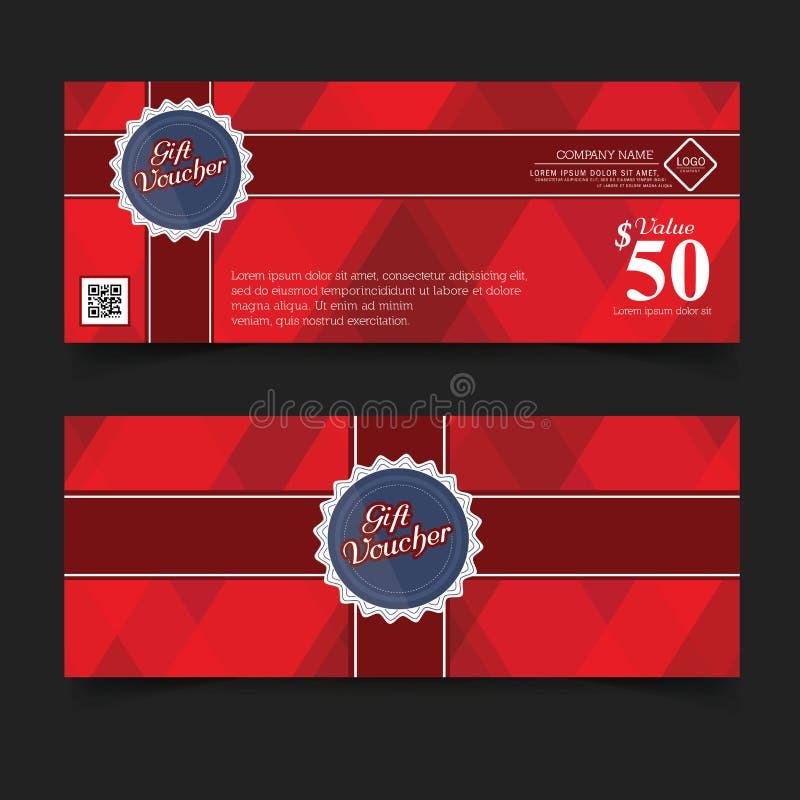 Primero ministro Color, cintas y arco rojo del vale de regalo libre illustration