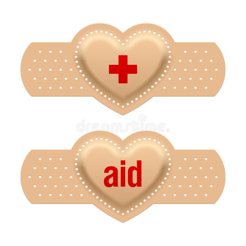 Primeros auxilios con amor ilustración del vector