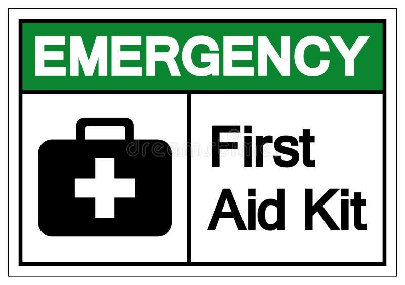 Primeros auxilios Kit Symbol Sign, ejemplo del vector, aislante en la etiqueta blanca del fondo EPS10 stock de ilustración