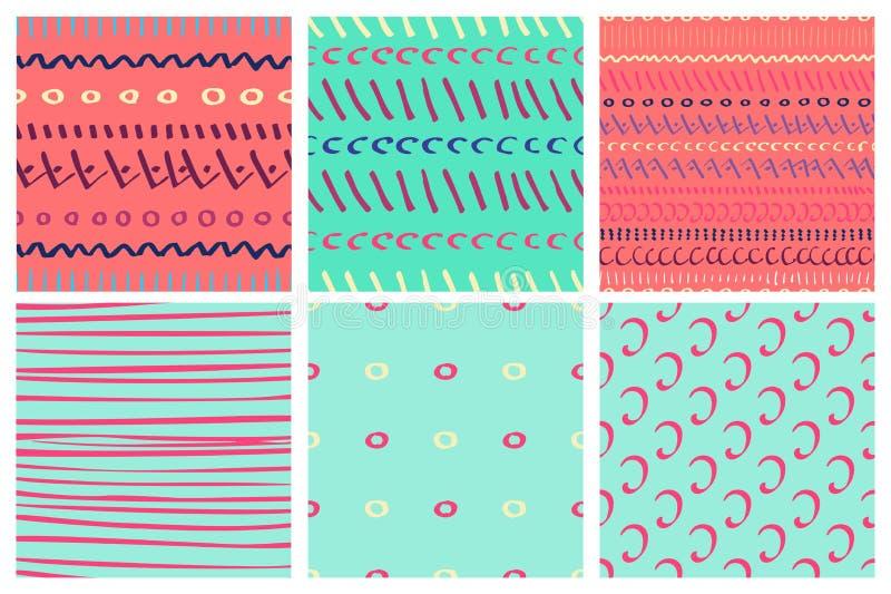 Primitieve tekenings eenvoudige vectorpastelkleuren als achtergrond royalty-vrije stock fotografie