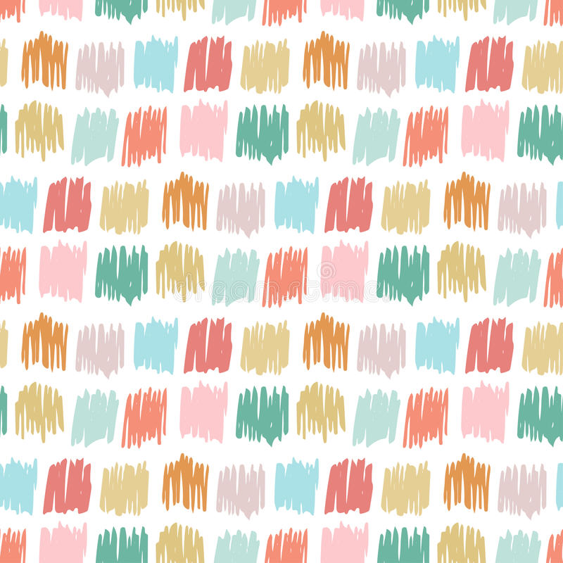Primitive seamless pattern with freehand squares autumn for Childrens patterned fabric