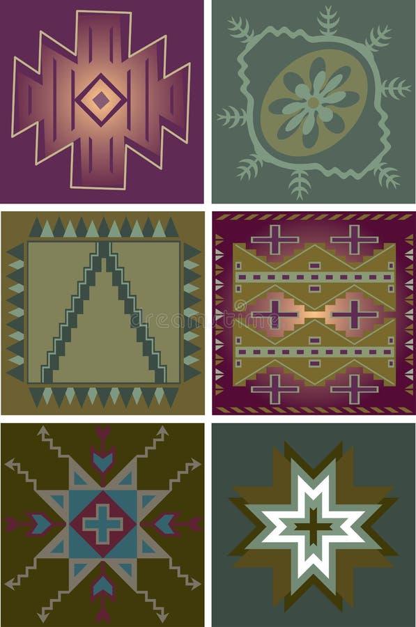 Download Primitive Tribal Patterns stock illustration. Illustration of figure - 17872742