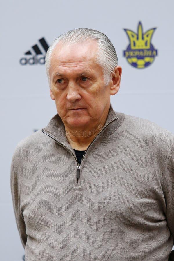 Primo allenatore del cittadino Team Mykhailo Fomenko dell'Ucraina immagine stock