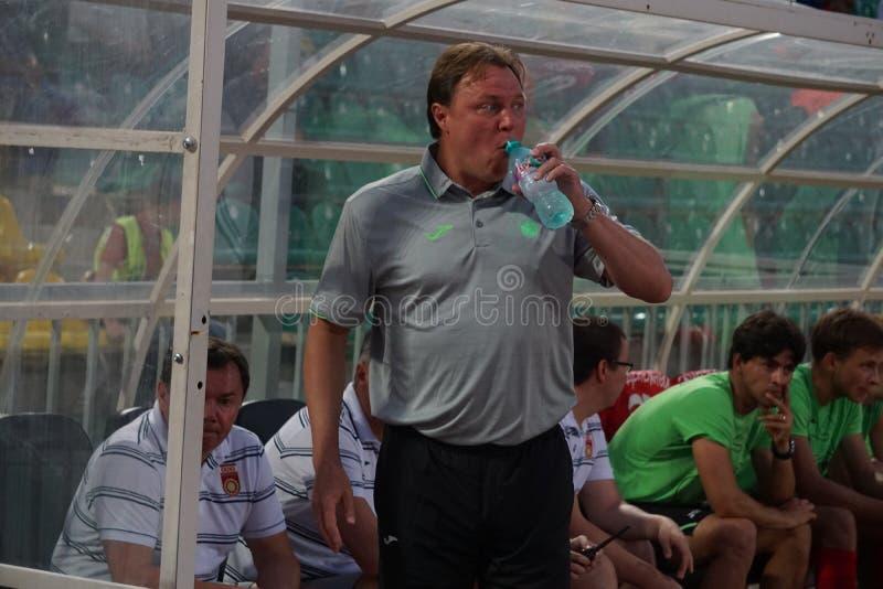 Primo allenatore di FC Ufa Igor Kolyvanov immagine stock