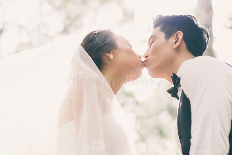 Primo bacio fotografie stock