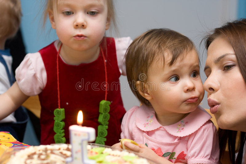 Primo compleanno immagini stock libere da diritti