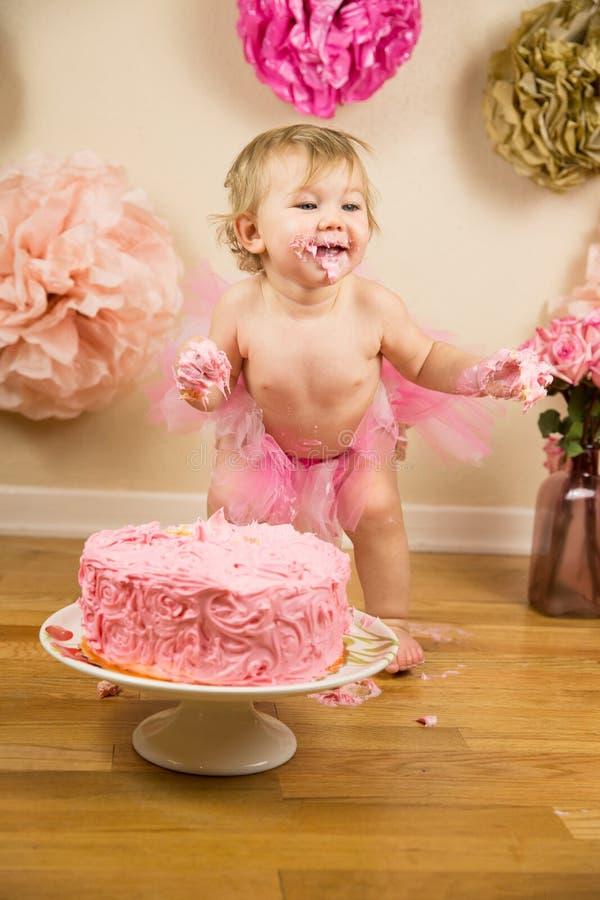 Primo compleanno fotografia stock